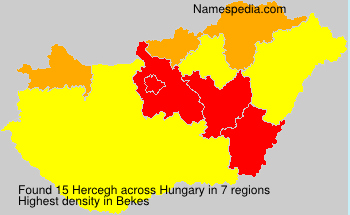 Surname Hercegh in Hungary