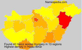 Surname Hercz in Hungary