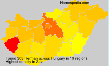Surname Herman in Hungary