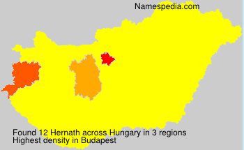 Surname Hernath in Hungary