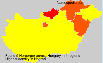 Surname Herperger in Hungary