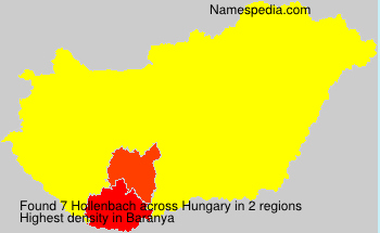 Surname Hollenbach in Hungary
