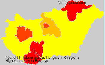 Surname Hubner in Hungary