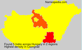 Surname Indre in Hungary