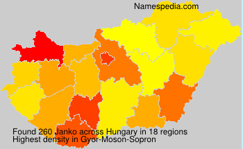 Surname Janko in Hungary