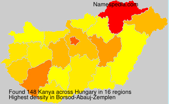 Surname Kanya in Hungary