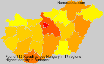 Surname Karadi in Hungary