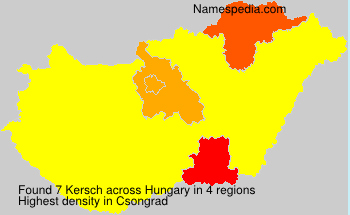 Surname Kersch in Hungary