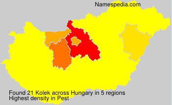Surname Kolek in Hungary