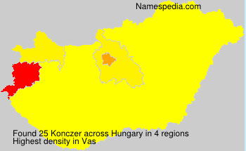 Surname Konczer in Hungary