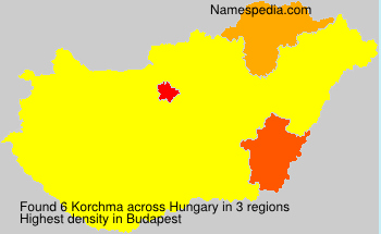 Surname Korchma in Hungary