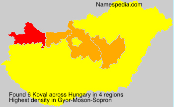Surname Koval in Hungary
