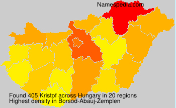 Surname Kristof in Hungary