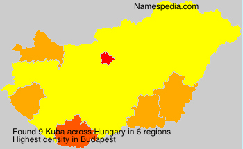 Surname Kuba in Hungary