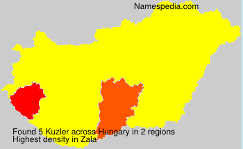 Surname Kuzler in Hungary