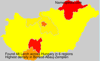 Surname Lerch in Hungary