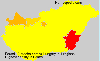 Surname Macho in Hungary