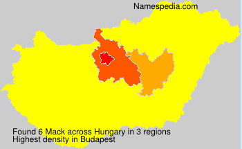 Surname Mack in Hungary
