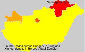 Surname Macs in Hungary