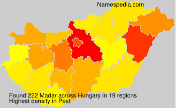 Surname Madar in Hungary