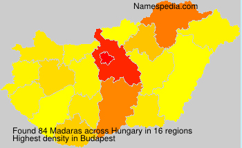 Surname Madaras in Hungary