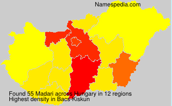 Surname Madari in Hungary