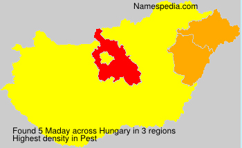 Surname Maday in Hungary