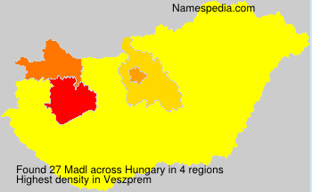 Surname Madl in Hungary
