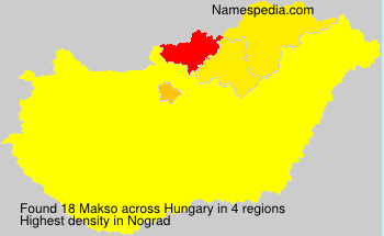 Surname Makso in Hungary