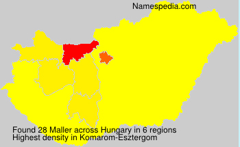 Surname Maller in Hungary
