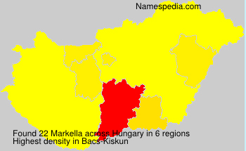Surname Markella in Hungary