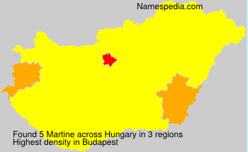 Surname Martine in Hungary