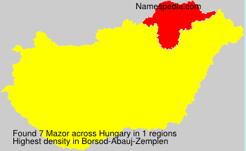 Surname Mazor in Hungary