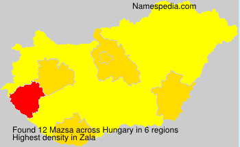 Surname Mazsa in Hungary