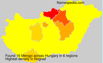 Surname Mengyi in Hungary