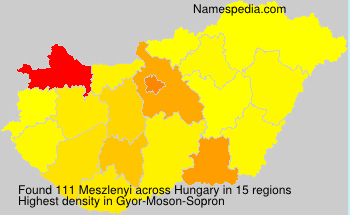 Surname Meszlenyi in Hungary