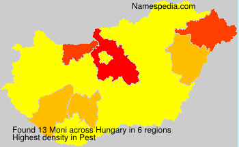 Surname Moni in Hungary