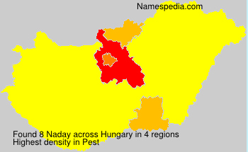 Surname Naday in Hungary