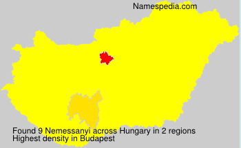 Surname Nemessanyi in Hungary