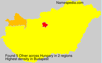Surname Ofner in Hungary