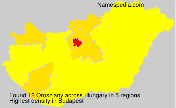 Surname Oroszlany in Hungary