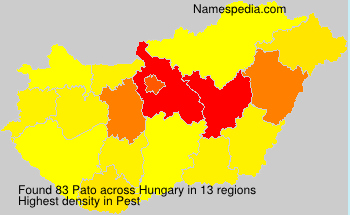 Surname Pato in Hungary
