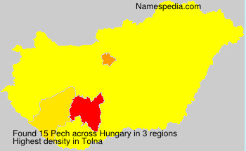 Surname Pech in Hungary