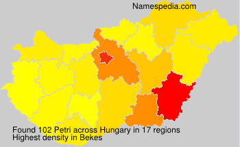 Surname Petri in Hungary