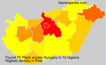Surname Plank in Hungary