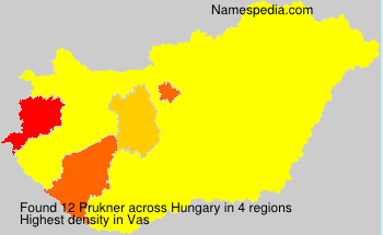 Surname Prukner in Hungary