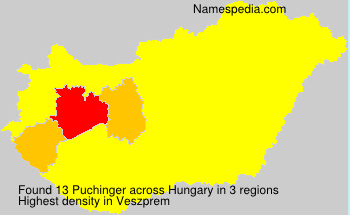 Surname Puchinger in Hungary