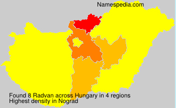 Surname Radvan in Hungary