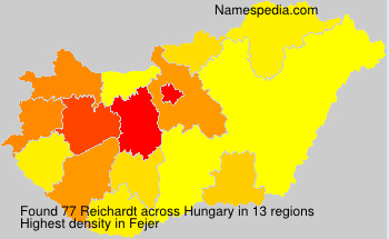 Surname Reichardt in Hungary