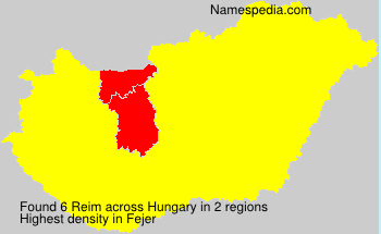 Surname Reim in Hungary